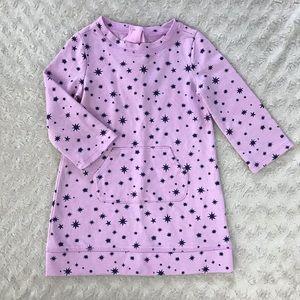 Gymboree Tunic Dress Purple Black Starburst 18-24M